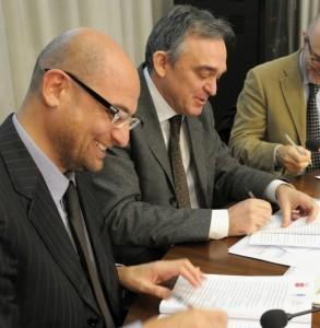 Foto di repertorio: Simone Millozzi con Enrico Rossi