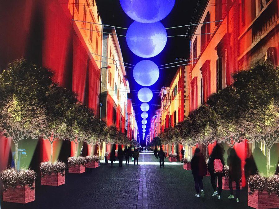 Progetto arredo ed illuminazione natalizia del centro città