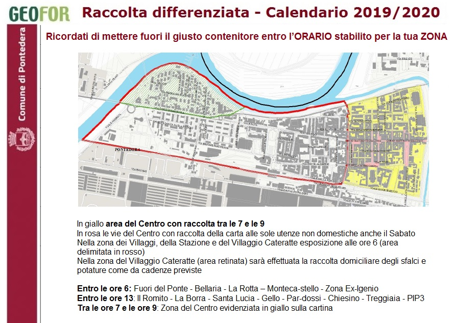Calendario Estate 2020.Memo Calendario Raccolta Differenziata Nell Estate