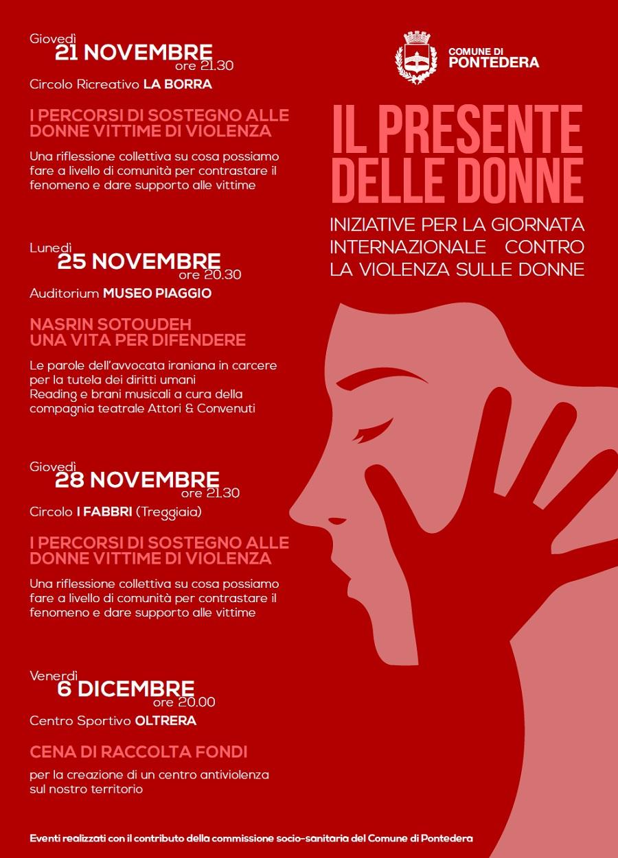 il presente delle donne iniziative per la giornata internazionale contro la violenza sulle donne comune di pontedera violenza sulle donne